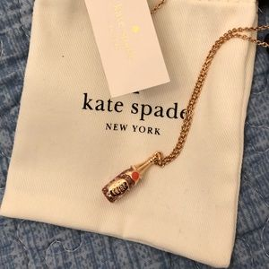 New with tags Kate Spade champagne bottle necklace